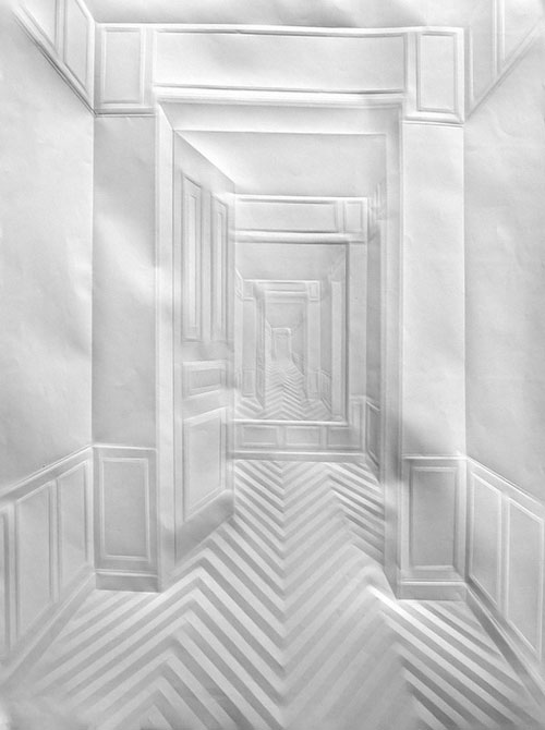 Simon Schubert Folded Paper Art