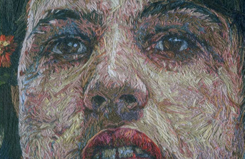 Thread Paintings by Cayce Zavaglia