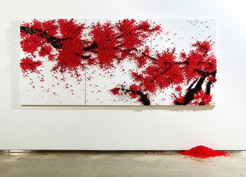 Amazing Wall Installations by Ran Hwang