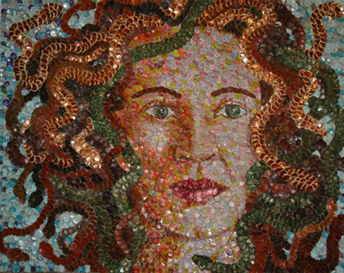 Bottle Cap Portraits by Molly Right