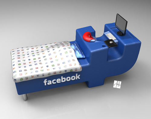 Facebook Bed Design by Tomislav Zvonarić