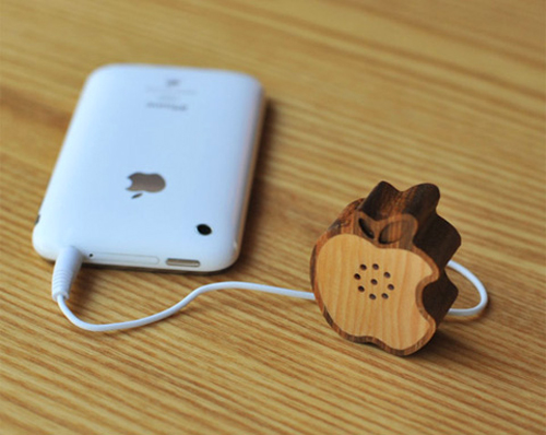 Wooden Apple Speaker by Motz