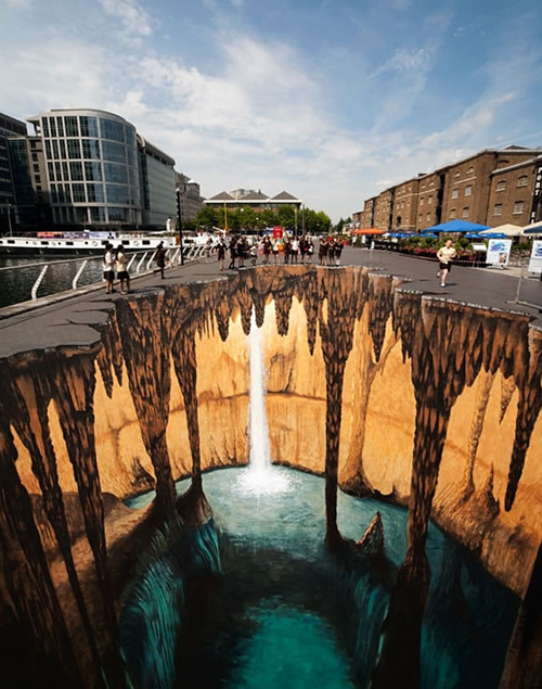 the jump and see Incredible 3D Sidewalk Chalk Art by Edgar M  252 llerDepth Sidewalk Art