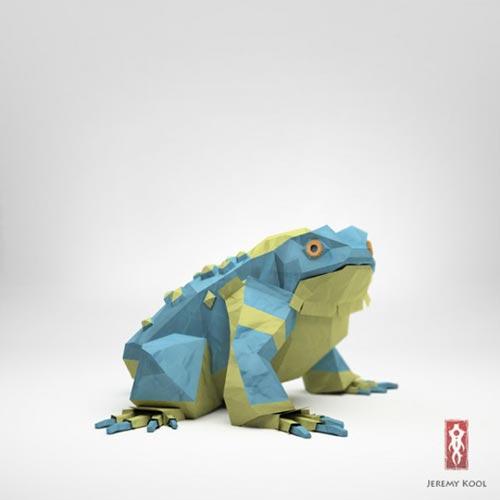 Digital Origami Illustrations by Jeremy Kool