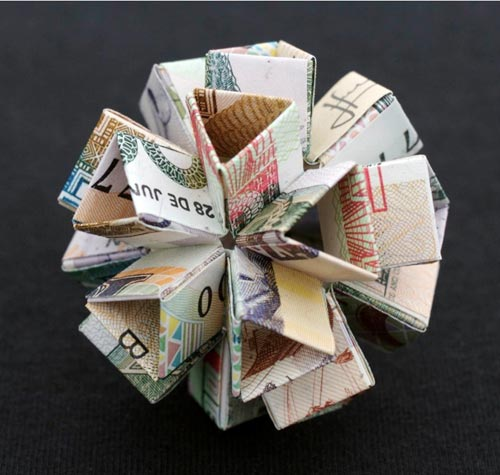 Money Sculptures by Kristi Malakoff