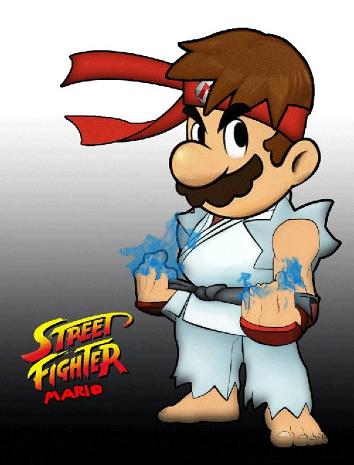 Super Mario Street Fighters by Michael Musco