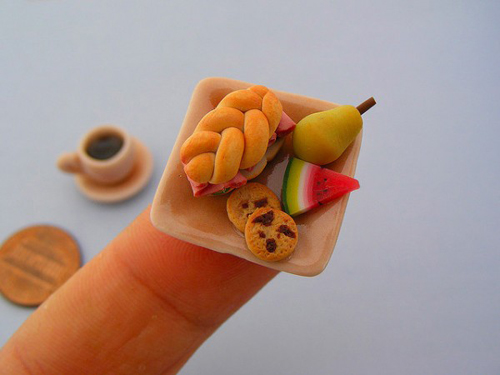 Tiny Food Sculptures by Shay Aaron
