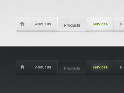 Web Page - Web Apps Menu Design