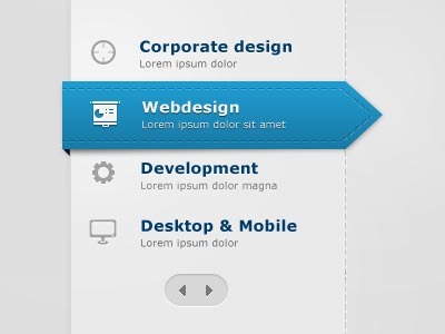 Web Page - Web Apps Menu Design