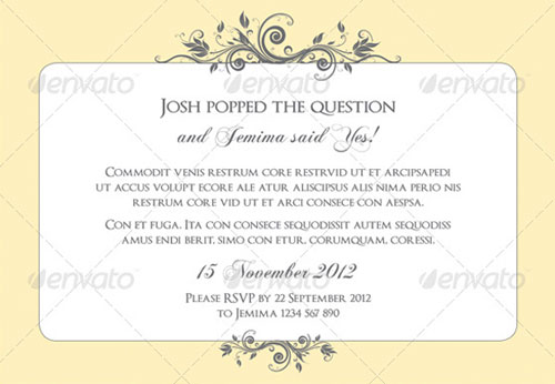 Wedding Invitation Templates Designs