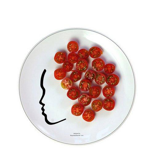 Plates With Faces by Boguslaw Sliwinski