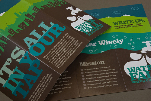 Brochure Design Examples - Graphic Water Company Brochure