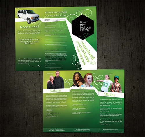 Brochure Design Examples - Church Brochure