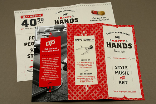 Brochure Design Examples - Retro Barbershop Brochure