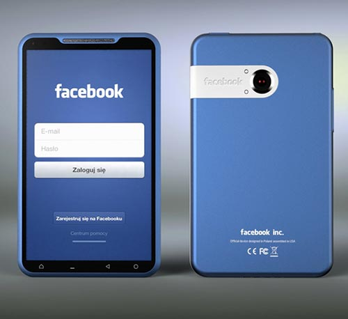 Facebook Phone Concept by Michal Bonikowski