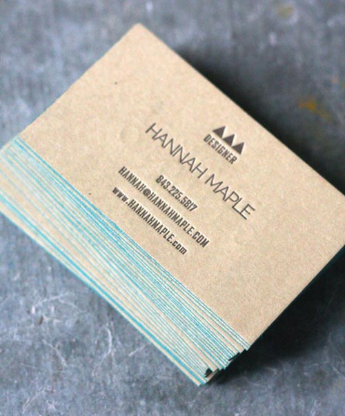 Letterpress Business Card Designs