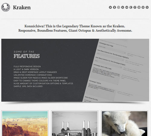 Kraken Business Portfolio WordPress Theme
