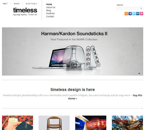 timeless - Minimal Typographic WordPress Theme