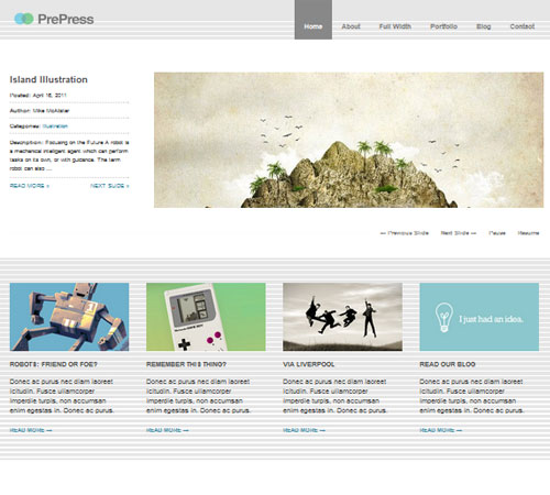 PrePress Minimal WordPress Theme