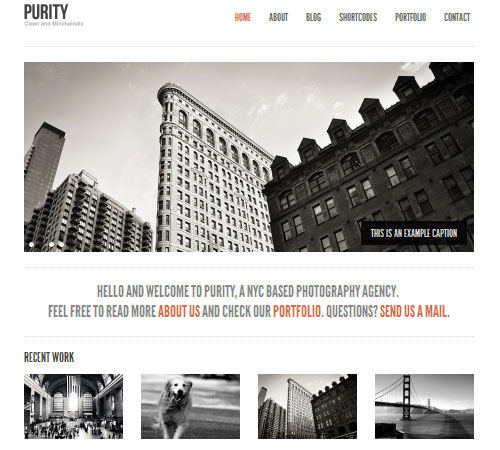 Purity: Clean, Minimal Bold WordPress Theme