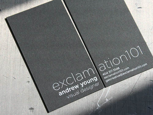 Creative Black and Grey Business Card