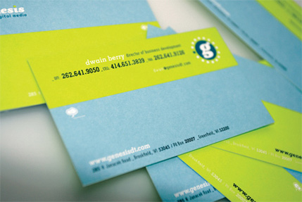 Colored Business Cards