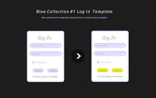 10  Free Psd Login Page Template Files