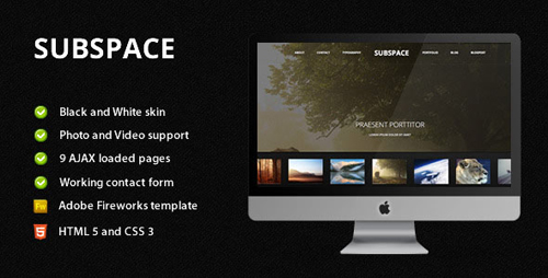 30 free premium portfolio html website templates. Black Bedroom Furniture Sets. Home Design Ideas