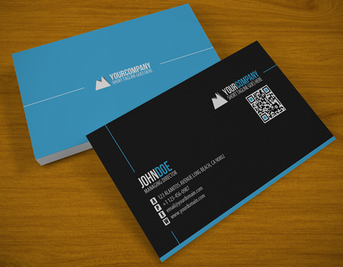 Beautiful Blue Business Card for Inspiration