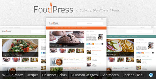 foodpress a recipe food blog wordpress theme Food, Restaurants & Cafes WordPress Themes