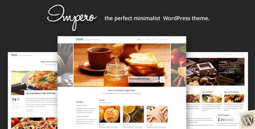 impero minimalistic wordpress theme Food, Restaurants & Cafes WordPress Themes