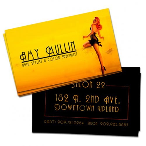 Yellow Business Cards