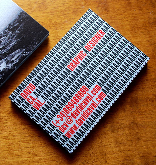 Typographic Business Cards