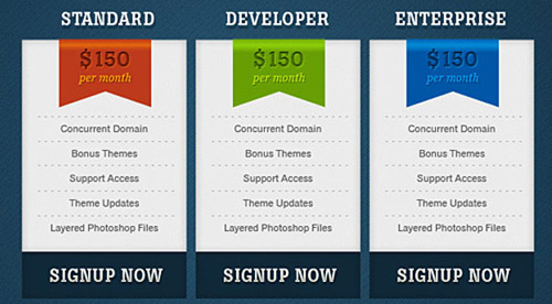 Website Design Pricing Table   Table Design And Table Ideas