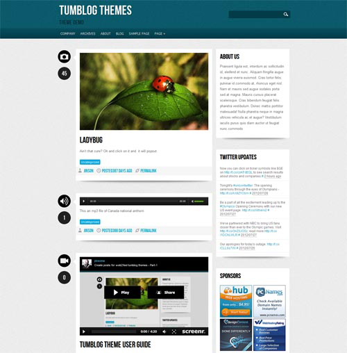 18 Free Tumblr Style WordPress Themes