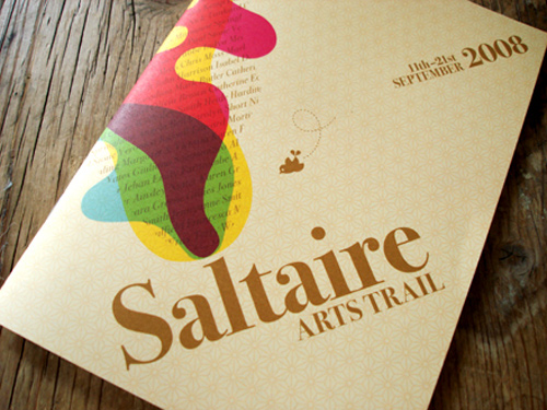 1 saltaire arts trail 25+ Creative Brochure Design Inspiration