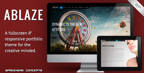 Ablaze - Responsive Fullscreen WordPress Theme - Retina Ready WordPress Theme