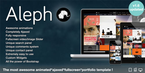 Aleph - Portfolio for Agencies and Freelancers - Retina Ready WordPress Theme
