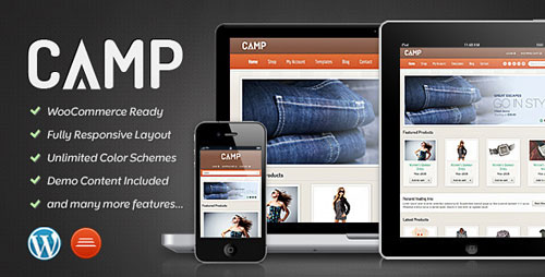 Camp - Responsive eCommerce Theme - Retina Ready WordPress Theme