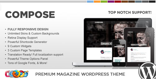 WP Compose Responsive WordPress Theme - Retina Ready WordPress Theme