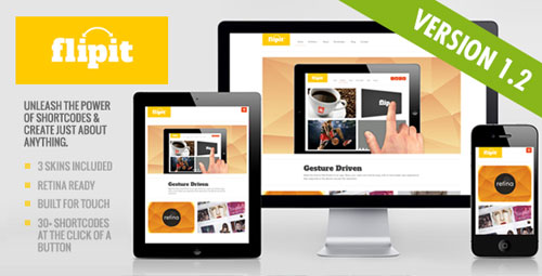 Flipit: Responsive, Multi Purpose Theme - Retina Ready WordPress Theme