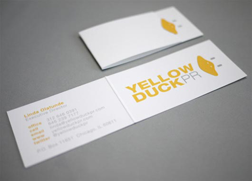 Folding Business Cards