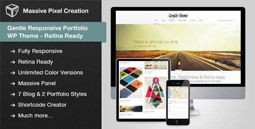 Gentle Responsive Portfolio WP Theme Retina Ready - Retina Ready WordPress Theme