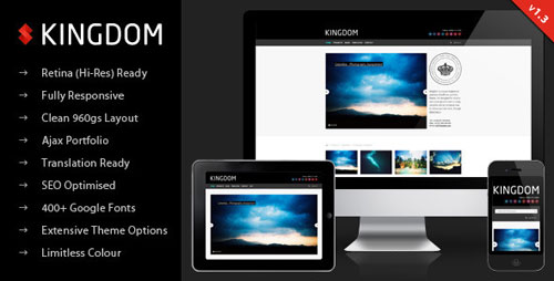 Kingdom - Retina Responsive Portfolio WP Theme - Retina Ready WordPress Theme