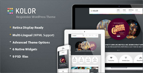 Kolor: Responsive Business and Portfolio Theme - Retina Ready WordPress Theme