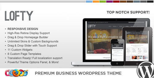 WP Lofty Responsive Business WordPress Theme - Retina Ready WordPress Theme