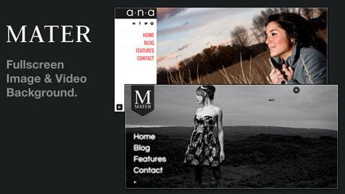 Mater - Fullscreen Image & Video Background WP - Retina Ready WordPress Theme