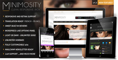 Minimosity - Magazine, Reviews and News WP Theme - Retina Ready WordPress Theme