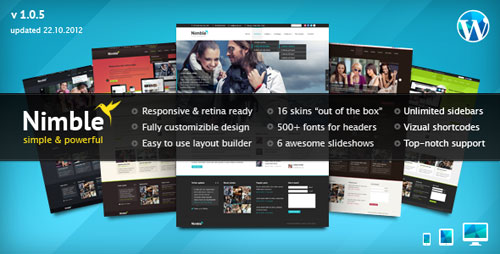 Nimble - Multipurpose Retina Ready WordPress Themes - Retina Ready WordPress Theme