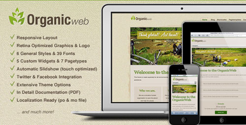 Organic Web - Environmental WordPress Theme - Retina Ready WordPress Theme